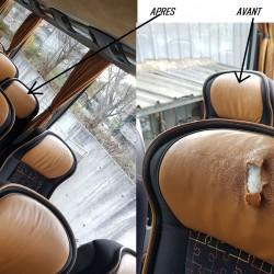 réparation têtières similicuir ou cuir